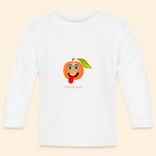 Whoua keep the peach - T-shirt manches longues Bébé
