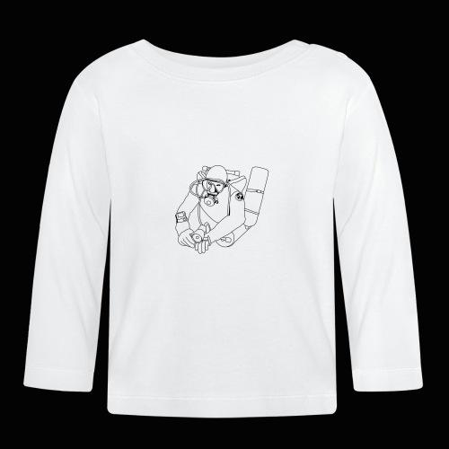 taucher outline mittel PRIVAT - Baby Langarmshirt