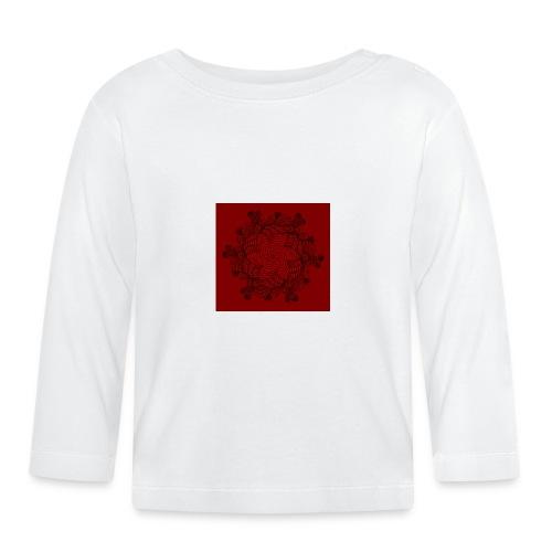 Mandala, rot-schwarz - Baby Langarmshirt