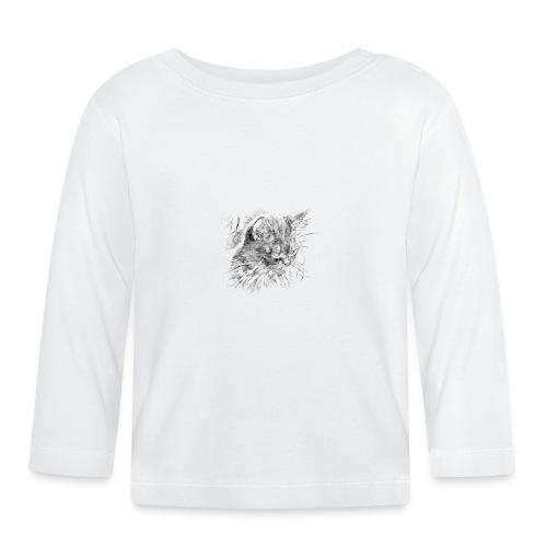chat triste - T-shirt manches longues Bébé