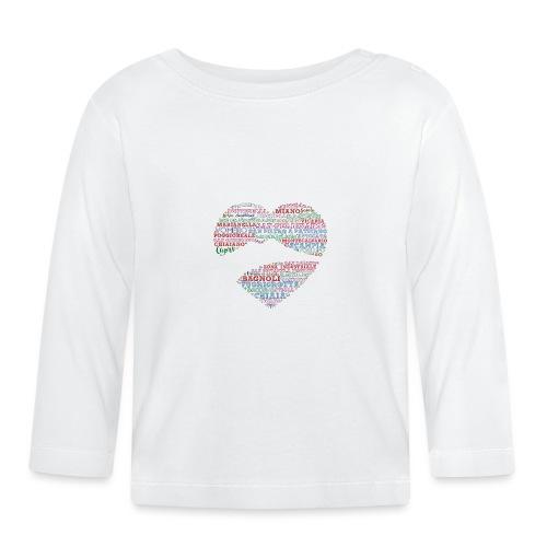I Luoghi di Napoli di CuordiNapoli - Maglietta a manica lunga per bambini