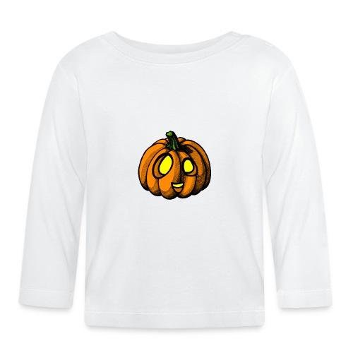 Pumpkin Halloween scribblesirii - Vauvan pitkähihainen paita