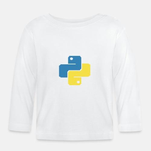 Python Pixelart - Baby Langarmshirt