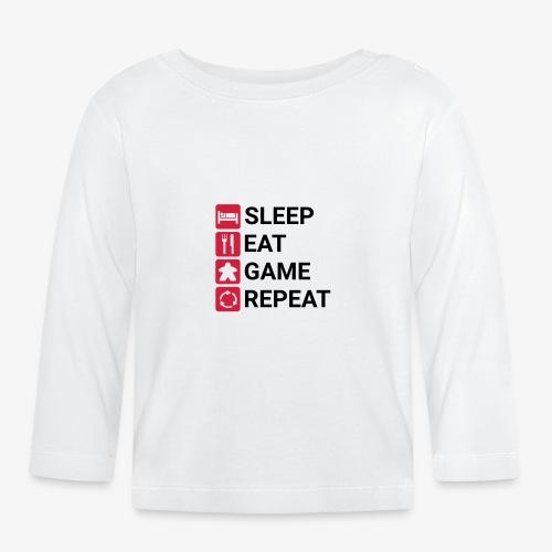 Sleep, eat, game, repeat - Langarmet baby-T-skjorte