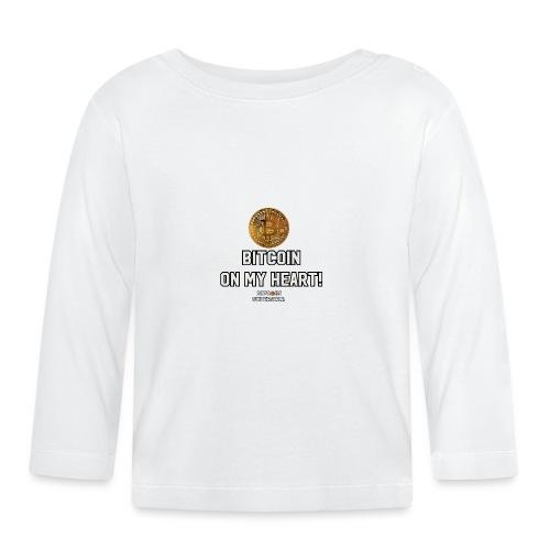 Bitcoin on my heart! - Maglietta a manica lunga per bambini