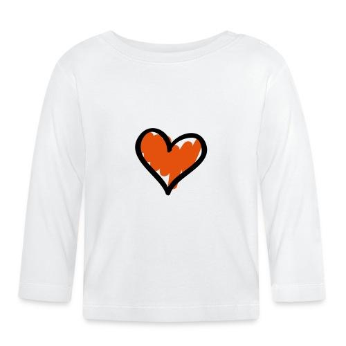 Heart Symbol Pixellamb - Baby Langarmshirt