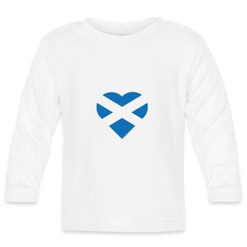 Flag of Scotland - The Saltire - heart shape - Baby Long Sleeve T-Shirt