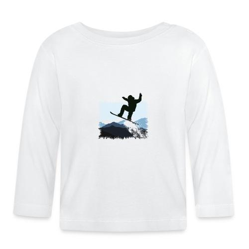 Snowboarder Action Jump   Apresski Shirt gestalten - Baby Langarmshirt