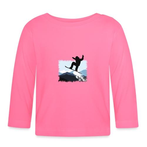 Snowboarder Action Jump | Apresski Shirt gestalten - Baby Langarmshirt