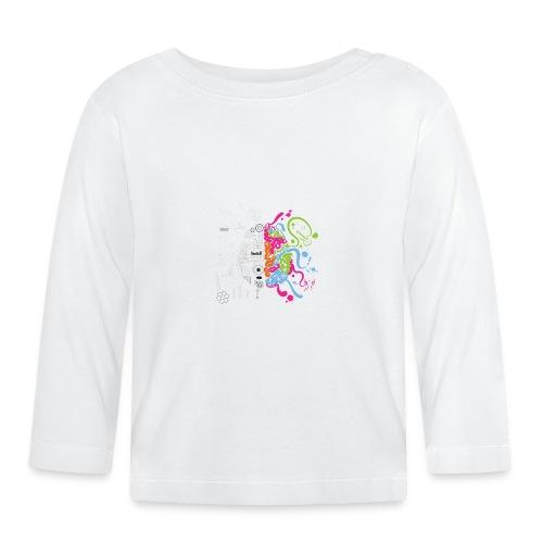 Cerebro ilustracion - Camiseta manga larga bebé
