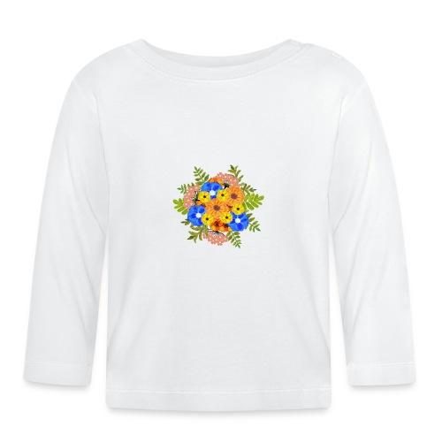 Blue Flower Arragement - Baby Long Sleeve T-Shirt