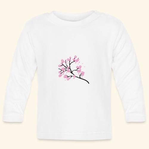Pink blossoms branch - Baby Long Sleeve T-Shirt