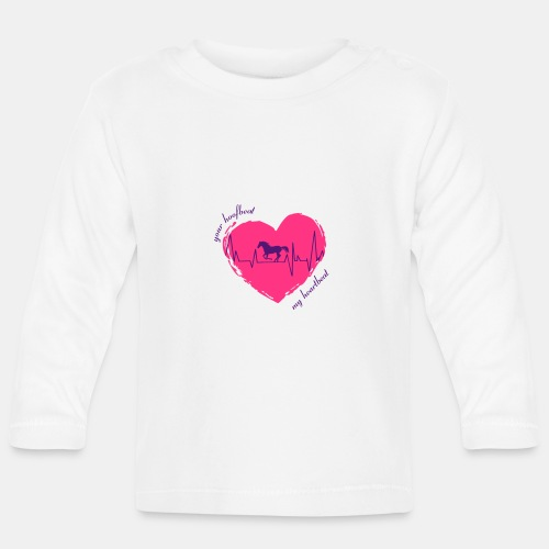 your hoofbeat is my heartbeat galopp_pferd - Baby Langarmshirt