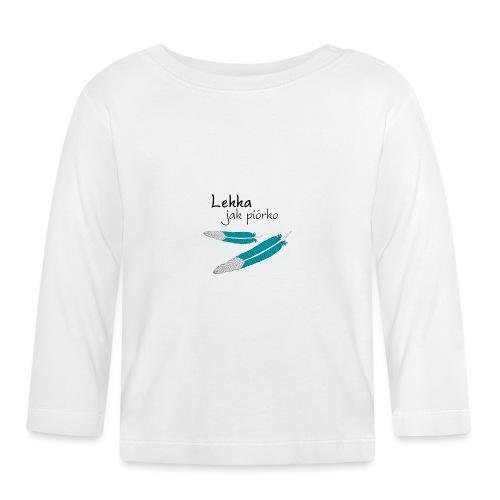 Lekka jak piórko - Koszulka niemowlęca z długim rękawem