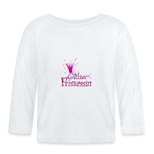 Rosa Glitzer Prinzessin - Baby Langarmshirt