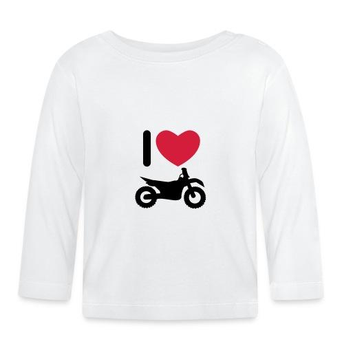 I love biking - Baby Langarmshirt