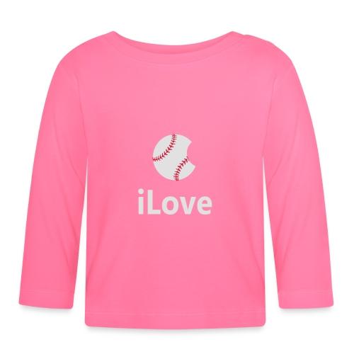 Baseball Logo iLove Baseball - Baby Long Sleeve T-Shirt