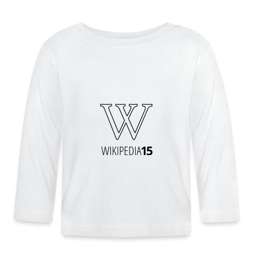 W, rak, vit - Långärmad T-shirt baby