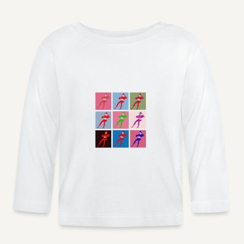 Stańczyk Warhol bez tla - Koszulka niemowlęca z długim rękawem