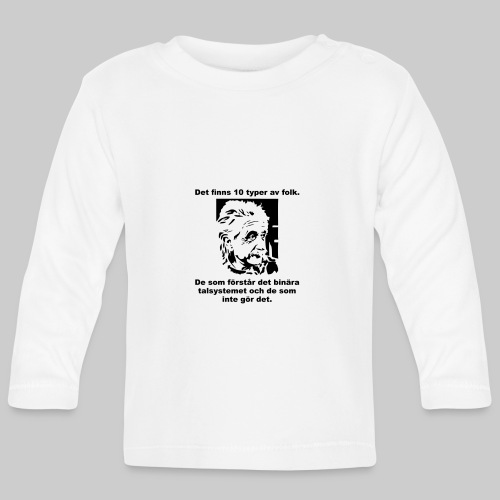 Det finns 10 Typer - Långärmad T-shirt baby