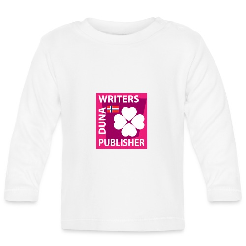 Duna Writers Publisher Pink - Langarmet baby-T-skjorte