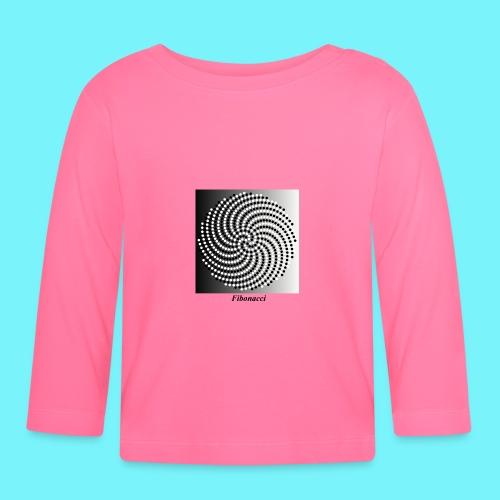 Fibonacci spiral pattern in black and white - Baby Long Sleeve T-Shirt