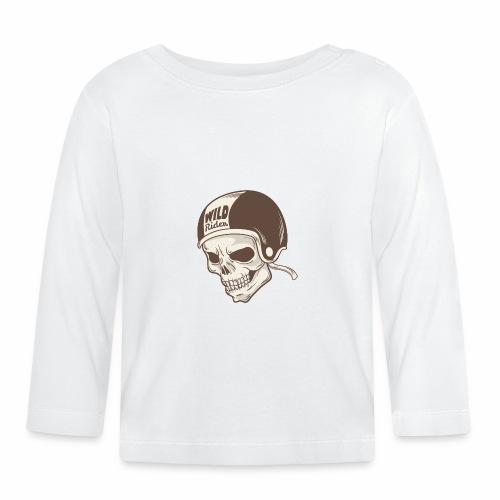 Helmet Skull Wild Rider - Baby Long Sleeve T-Shirt