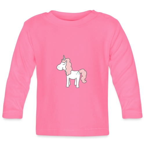 unicorn as we all want them - Langærmet babyshirt