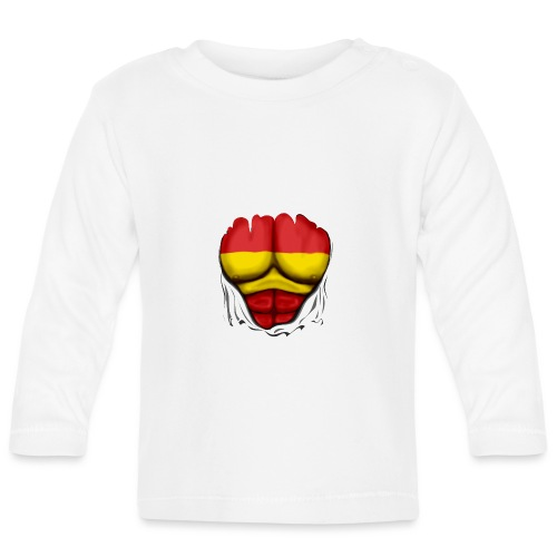 España Flag Ripped Muscles six pack chest t-shirt - Baby Long Sleeve T-Shirt