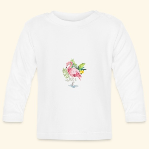 Flamingo tropical forest - Baby Long Sleeve T-Shirt