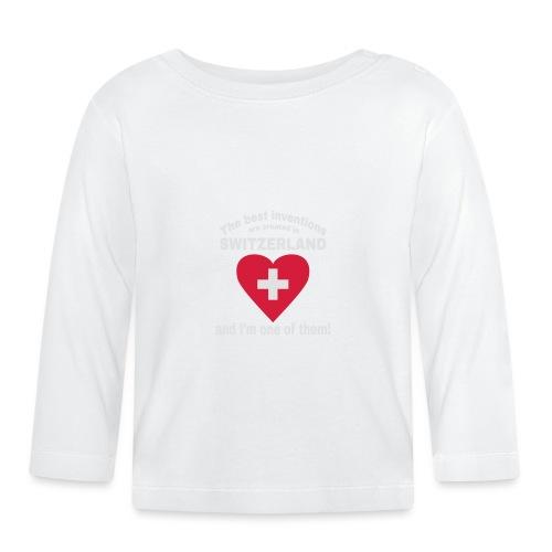 Lustiger Schweiz Spruch für echte Schweizer - Baby Langarmshirt