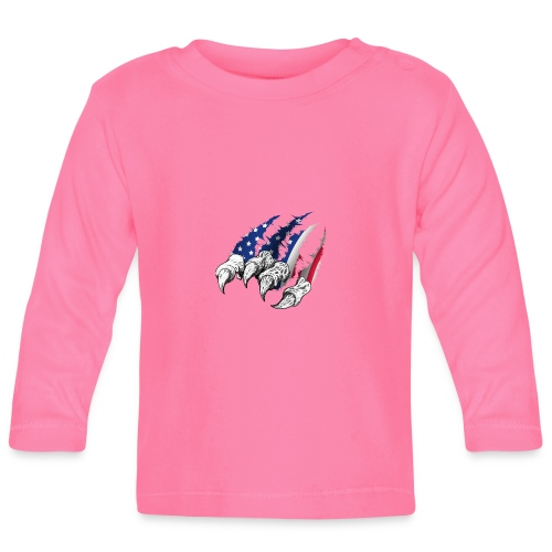 American Flag Claw - Baby Long Sleeve T-Shirt