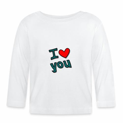 I love you - Baby Langarmshirt