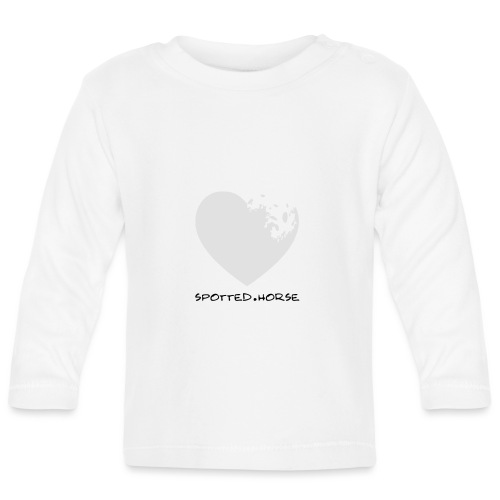 Cuore Appaloosa (bianco/rosso) - Maglietta a manica lunga per bambini