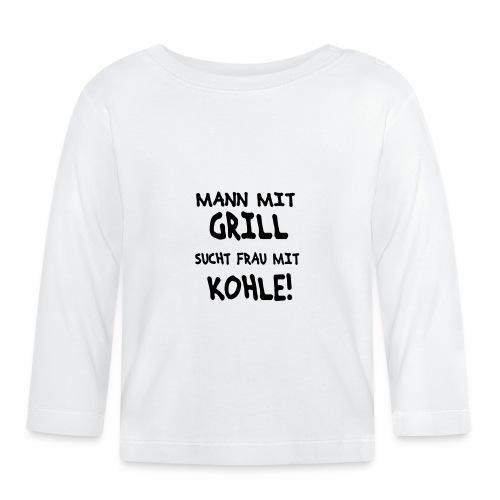 Mann mit Grill - Baby Langarmshirt