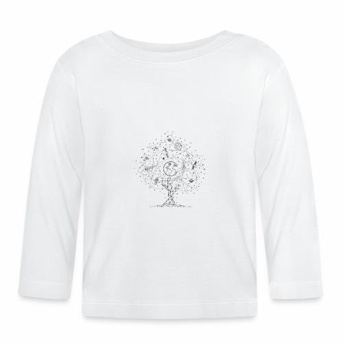 Interpretacja woodspace - Koszulka niemowlęca z długim rękawem