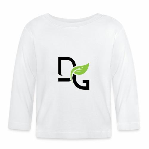 DrGreen Logo Symbol schwarz grün - Baby Langarmshirt