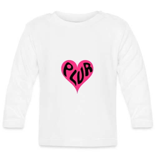 PLUR - Peace Love Unity and Respect love heart - Baby Long Sleeve T-Shirt