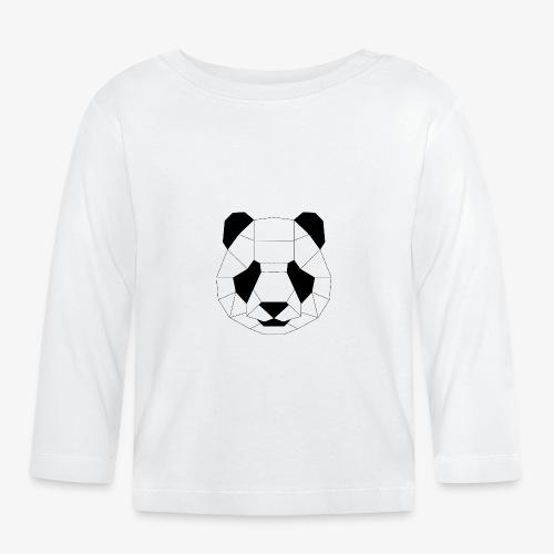 Panda schwarz - Baby Langarmshirt