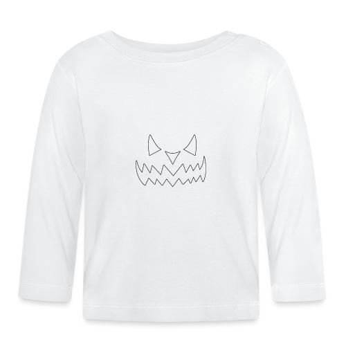 Halloween Face - Baby Langarmshirt