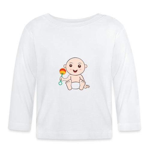 Glückliches Baby - Baby Langarmshirt