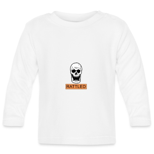 Rattled Spooky Halloween Skeleton Meme - Baby Long Sleeve T-Shirt
