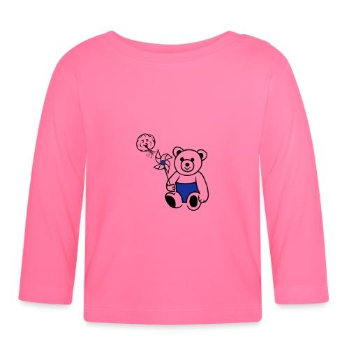 Teddybär mit Windmühle - Baby Langarmshirt