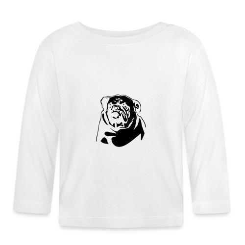 English Bulldog - negative - Vauvan pitkähihainen paita