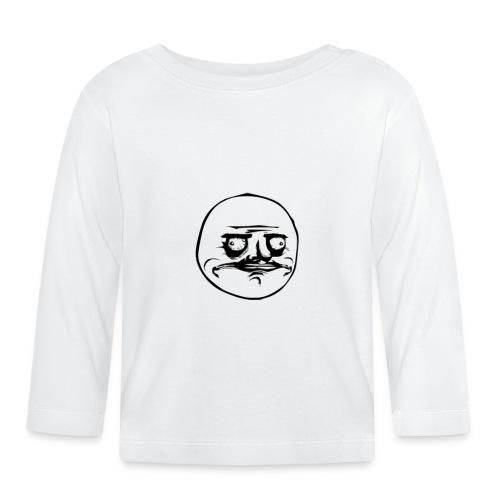 Me gusta face - Koszulka niemowlęca z długim rękawem