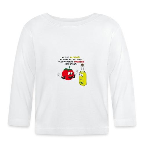 Tomate und Olivenöl - Baby Langarmshirt