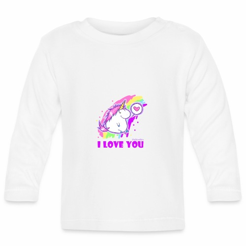 unicorn_love - Baby Langarmshirt