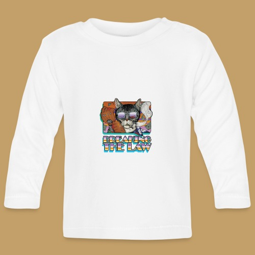 Crime Cat in Shades - Braking the Law - Koszulka niemowlęca z długim rękawem