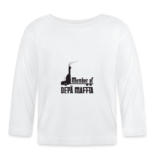 Depå Maffia svart tryck - Långärmad T-shirt baby