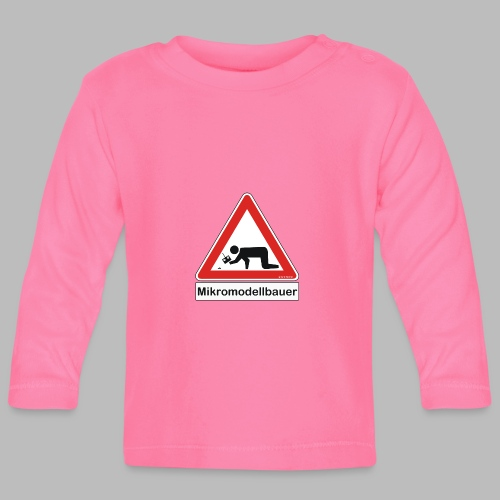 Warnschild Mikromodellbauer Auto - Baby Langarmshirt